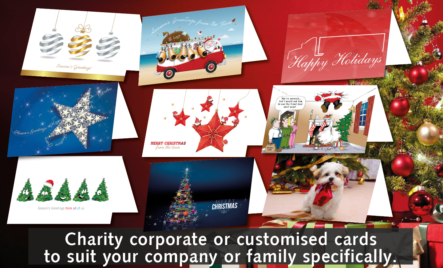 Charity corporate christmas cards bizworks printing charity corporate christmas cards kristyandbryce Choice Image